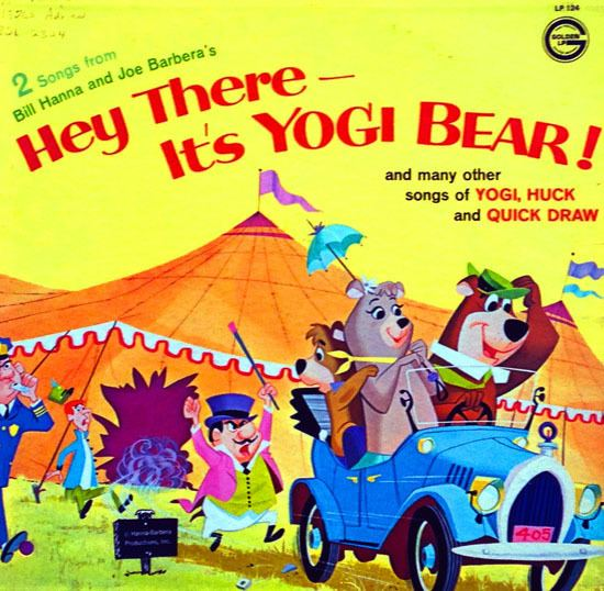 Hey There, Its Yogi Bear! movie scenes HEY THERE IT S YOGI BEAR And Many Other Songs of Yogi Huck and Quick Draw Golden Records Mono LP 124 12 33 1 3 RPM LP 1964