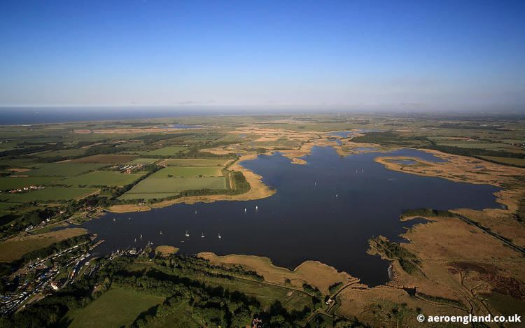 Hickling Broad aeroengland aerial photograph of Hickling Broad on the Norfolk