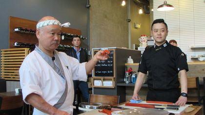 Hidekazu Tojo Japan gives kudos to king of Vancouver sushi kitchen chef Hidekazu
