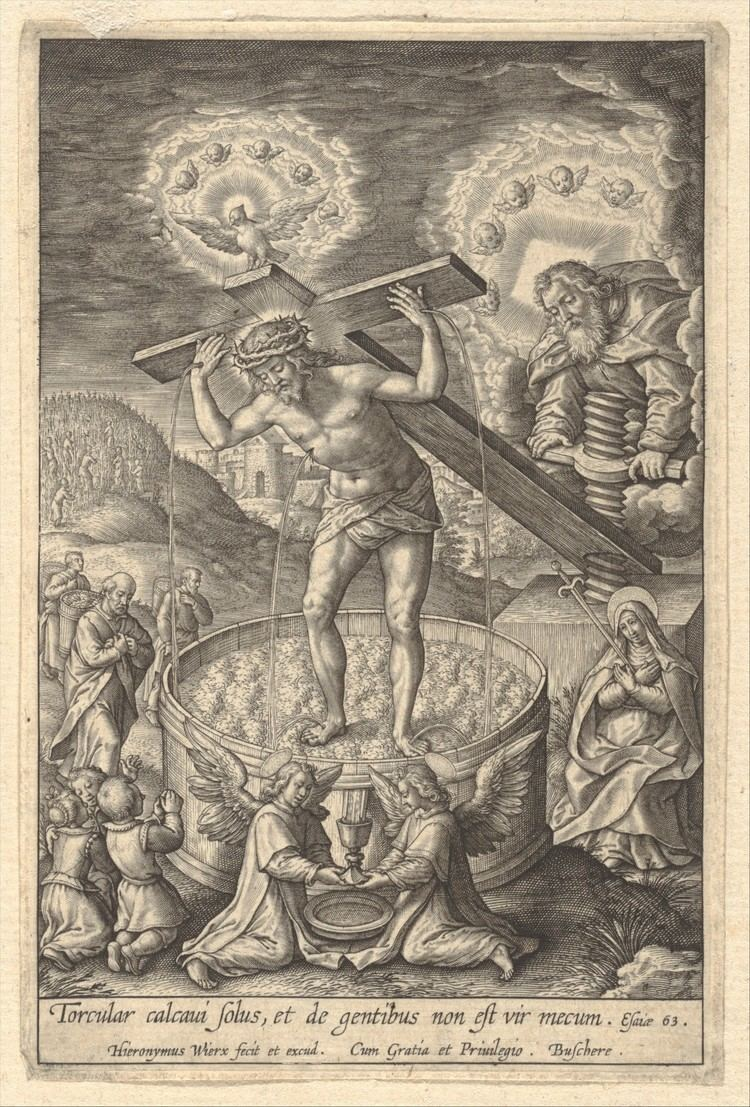 Hieronymus Wierix Hieronymus Jerome Wierix Christ in the Wine Press