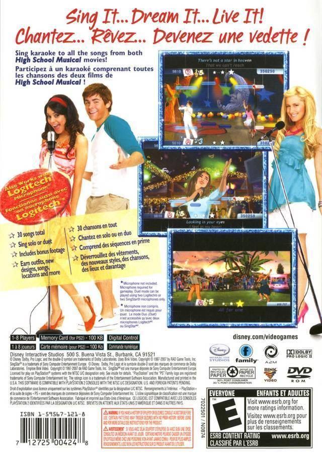 High School Musical: Sing It! High School Musical Sing It Box Shot for PlayStation 2 GameFAQs