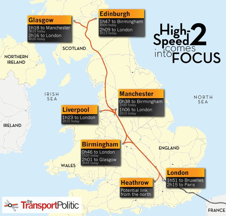 High Speed 2 UK39s Network Rail Moves Forward with Route Choice for HighSpeed 2