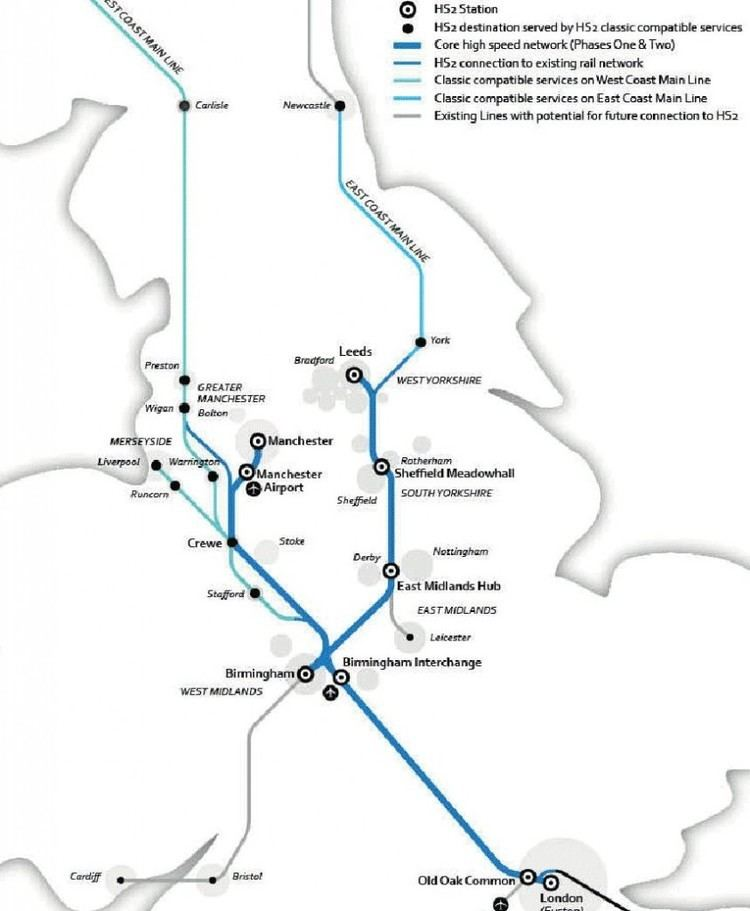 High Speed 2 32bn High Speed 2 rail plans outlined January 2013 News