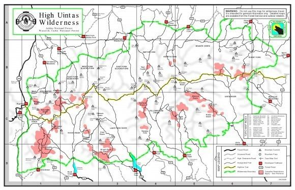 High Uintas Wilderness High Uintas Wilderness Utah 8 Day 95 Mile Solo Hike Aug 2015
