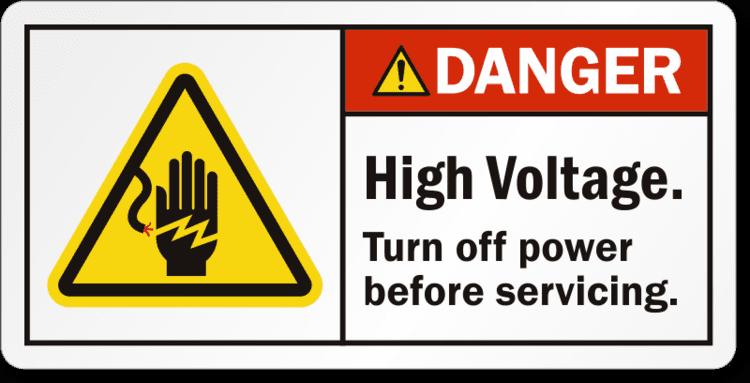 High voltage High Voltage Labels Danger Volts Stickers