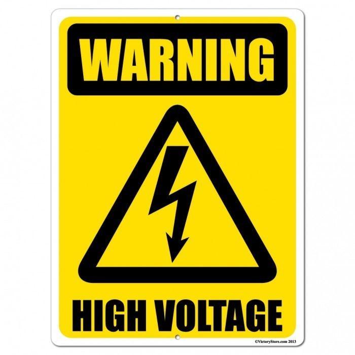 High voltage Warning High Voltage Sign or Sticker 3