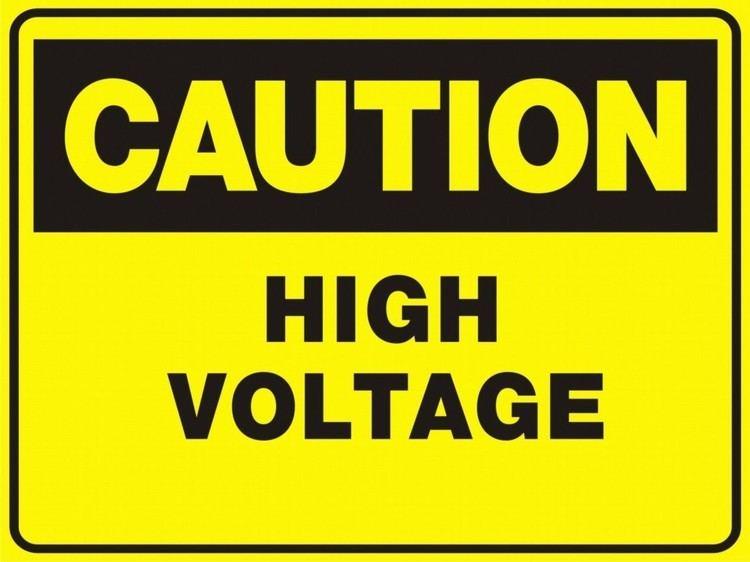 High voltage Caution High Voltage Sign ClipArt Best