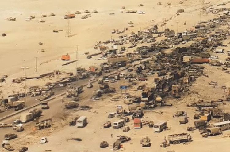 Highway of Death Iraqi Forces Were Annihilated While Retreating On 39The Highway Of