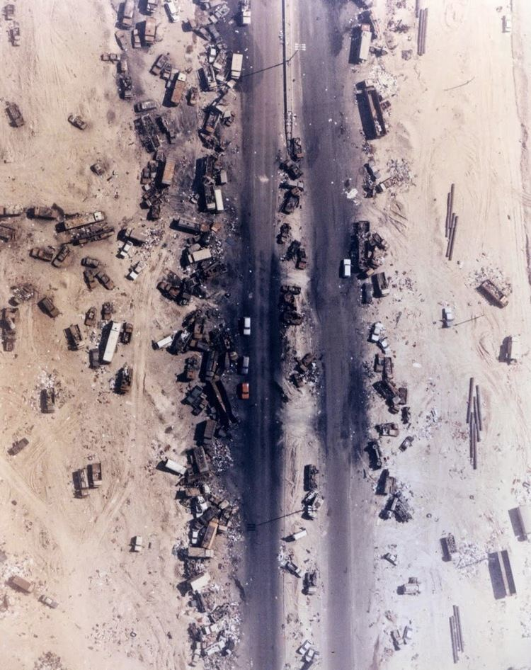 Highway of Death Highway of Death the result of American forces bombing retreating