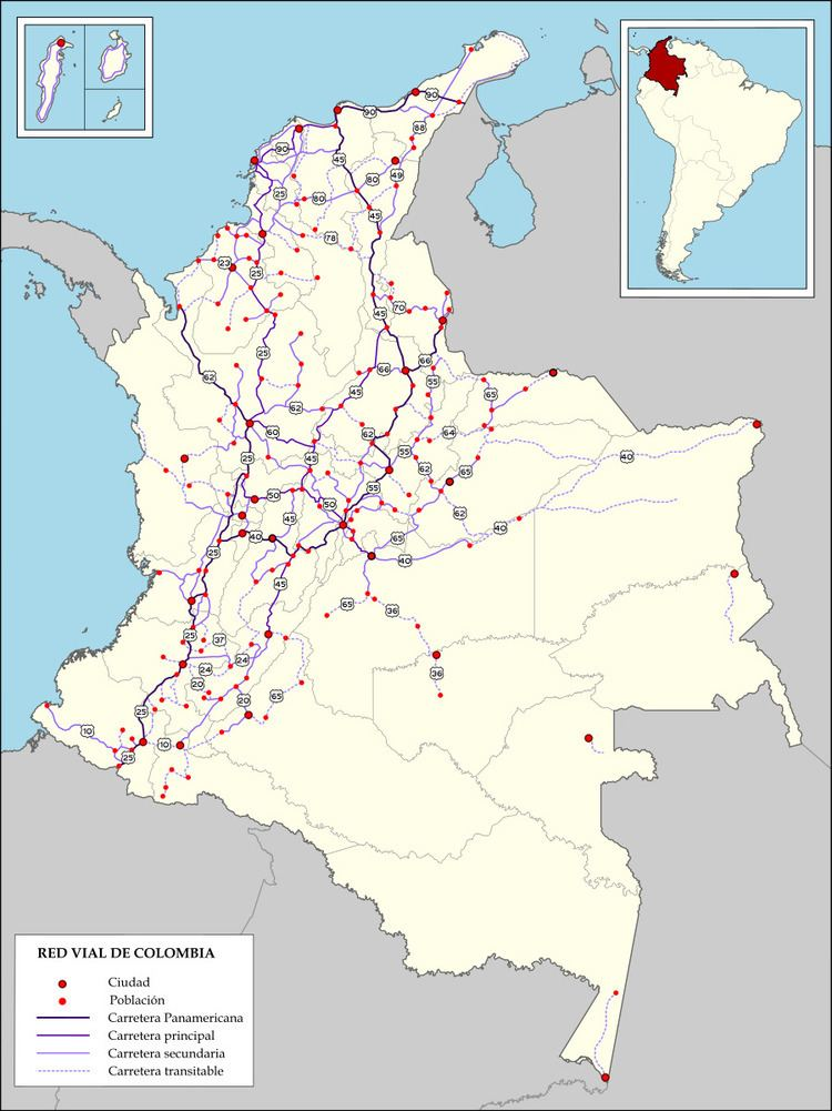 Highways in Colombia