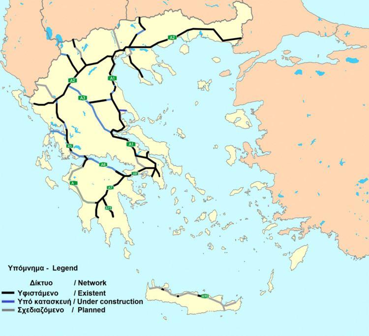 Highways in Greece