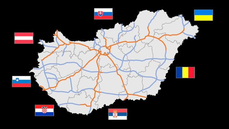 Highways in Hungary