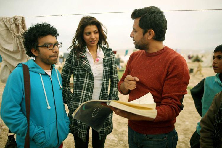 Hijrat (film) Rabia Butt with director Farouq Mengal on the sets of HIJRAT Usman