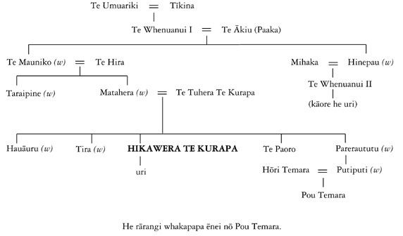 Hikawera Te Kurapa Te Kurapa Hikawera Whakapapa of Hikawera Te Kurapa Te Ara