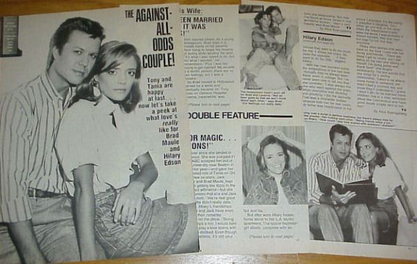 Hilary Edson HILARY EDSON amp BRAD MAULE soap opera clippings General