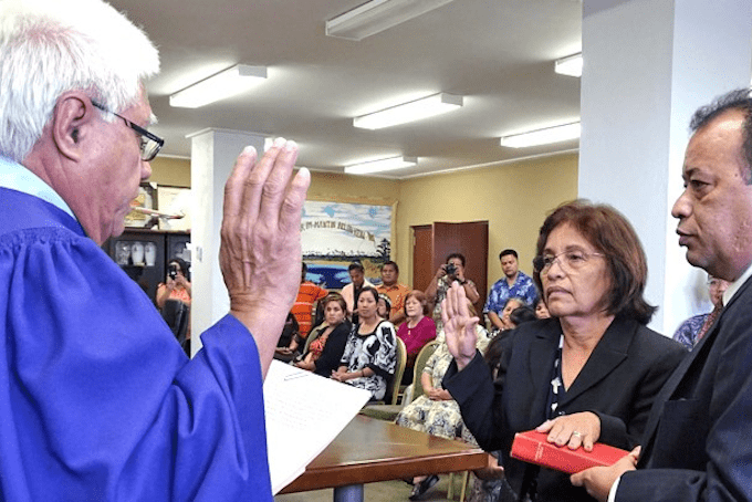 Hilda Heine Hilda Heine sworn in as first Pacific woman president Asia Pacific