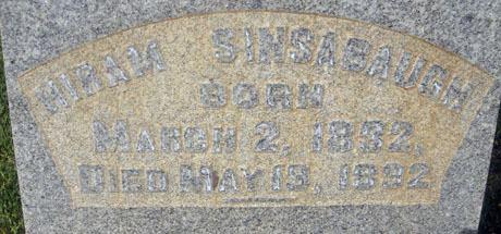 Hiram Sinsabaugh Hiram Sinsabaugh 1832 1892 Find A Grave Memorial