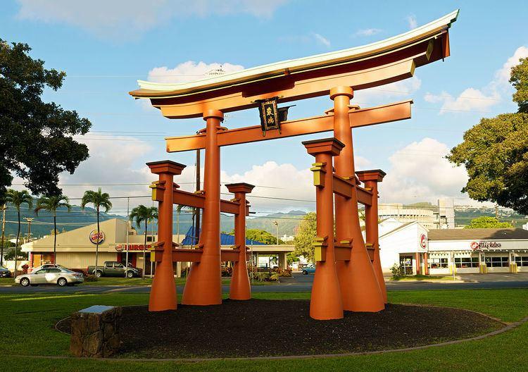 Hiroshima to Honolulu Friendship Torii