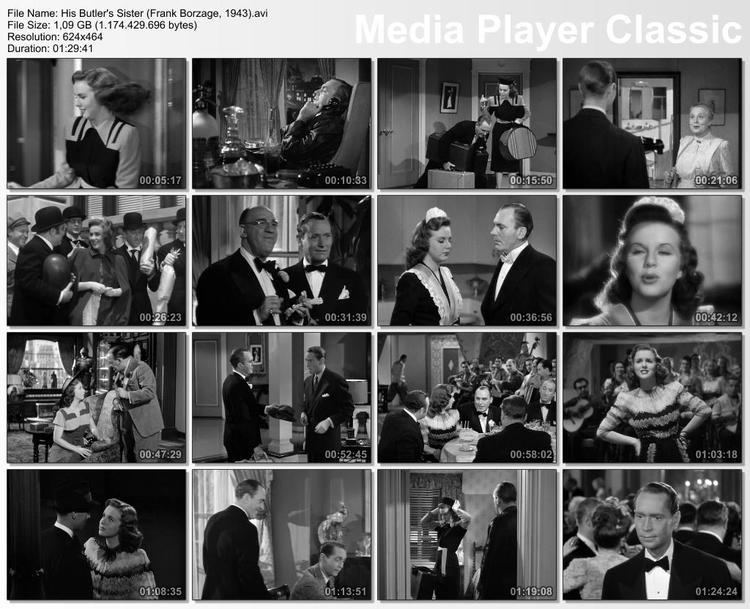 His Butler's Sister His Butlers Sister 1943 Toronto Film Society Toronto Film Society