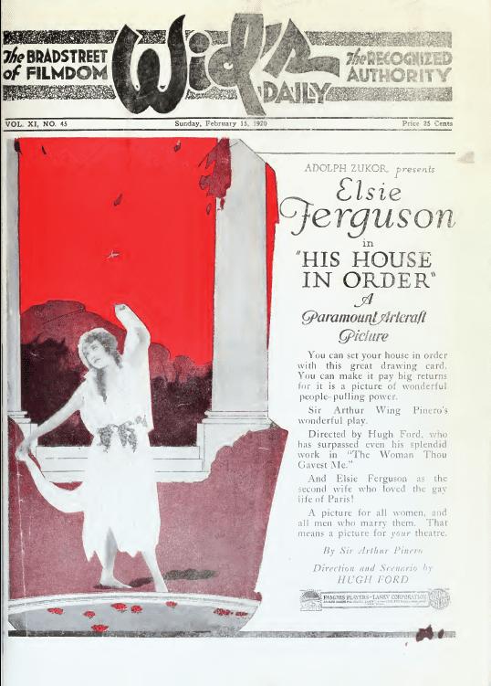 His House in Order (1920 film) His House in Order 1920 film Wikipedia