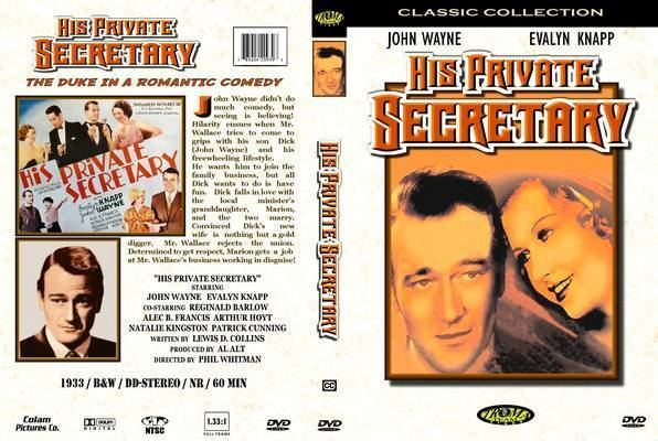His Private Secretary His Private Secretary 1933 DVD Front Cover id77780 Covers Resource