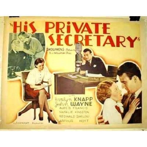 His Private Secretary His Private Secretary 1933