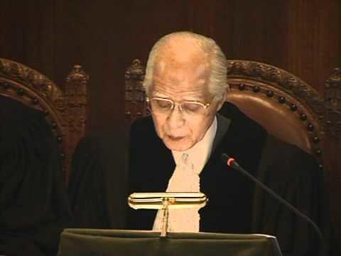 Hisashi Owada 2011Jul18 The President of ICJ Hisashi Owada Japan Reading