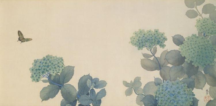 Hishida Shunsō FileHishida shunso Hydrangeas Google Art Projectjpg