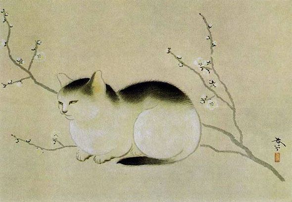 Hishida Shunsō Cat Hishida Shunso WikiArtorg