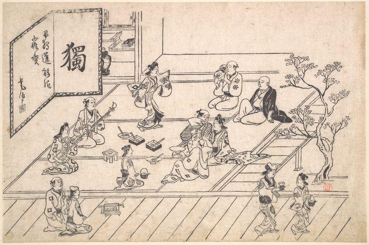 Hishikawa Moronobu Hishikawa Moronobu Interior Scene in the Yoshiwara