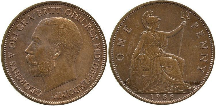 History of the British penny (1901–1970)