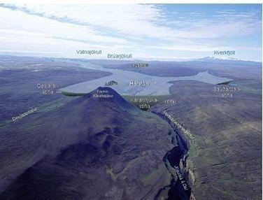 Hálslón Reservoir ensjalfbaerniismediavisarausturlandumhverfi
