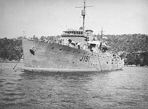 HMAS Broome (J191) httpsuploadwikimediaorgwikipediacommonsthu
