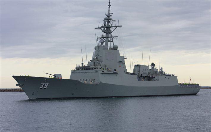HMAS Hobart (DDGH 39) Download wallpapers HMAS Hobart DDGH 39 lead ship air warfare