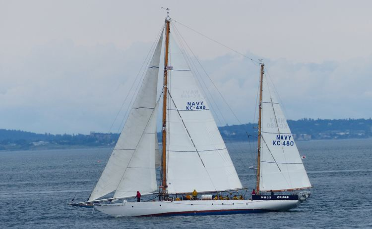 HMCS Oriole She may not be the most impressive of the world39s navies sail
