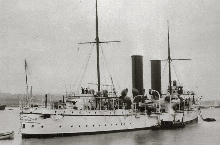 HMCS Rainbow (1891) Grey Funnel Line HMS Rainbow