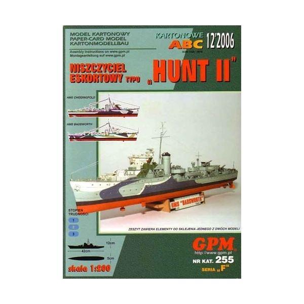 HMS Badsworth (L03) HMS Chiddingfold or HMS Badsworth class Hunt II paper model