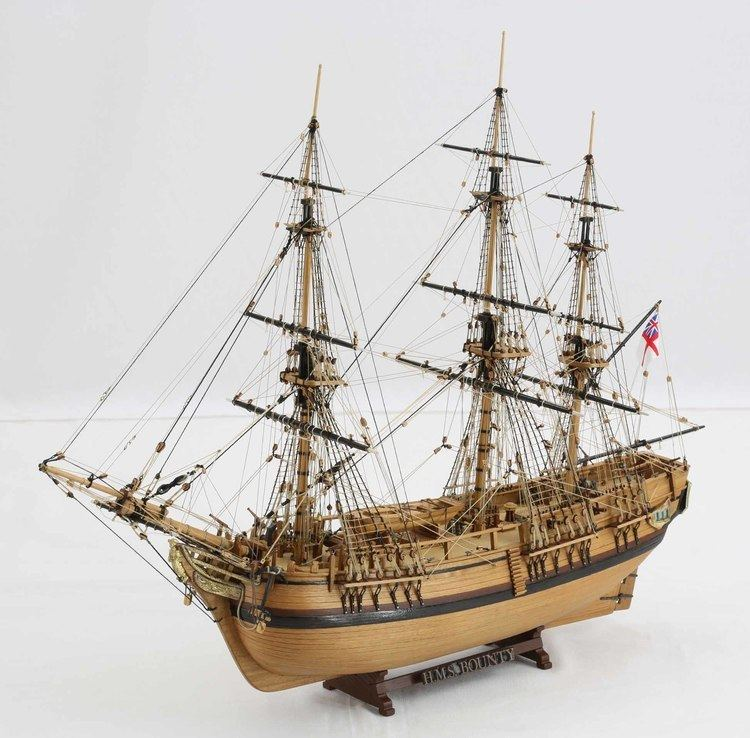 HMS Bounty Ship model HMS BOUNTY of 1784