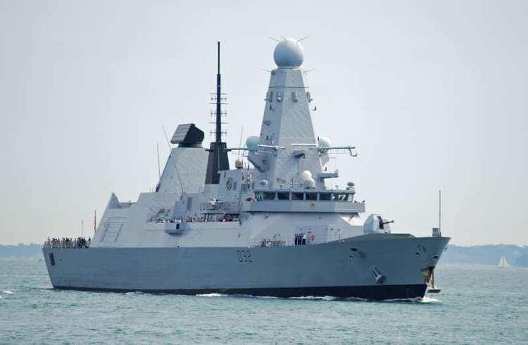 HMS Daring (D32) HMS DARING D32 IMO 4907749 ShipSpottingcom Ship Photos and