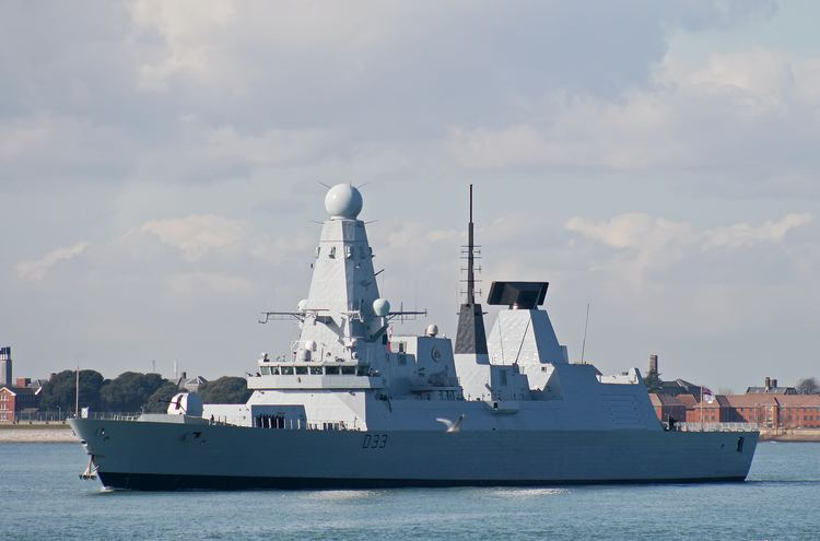HMS Dauntless (D33) Royal Navy HMS Dauntless Type 45 Destroyer ships Pinterest