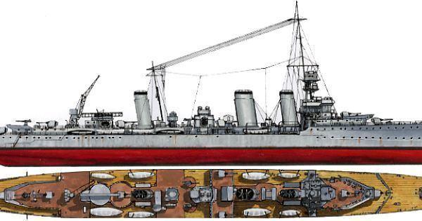 HMS Emerald (D66) HMS Emerald Emerald class light cruiser Battleship plans
