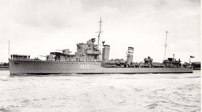HMS Encounter (H10) ww2todaycomwpcontentuploads201203HMSEncoun