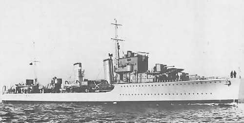 HMS Encounter (H10) HMS Encounter H 10 of the Royal Navy British Destroyer of the E