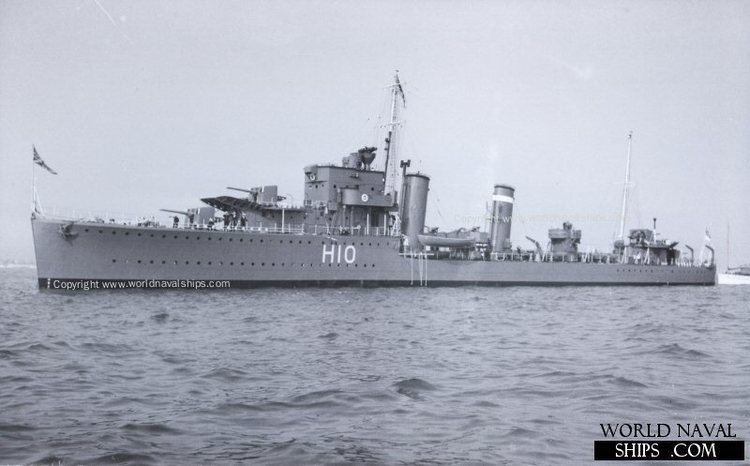HMS Encounter (H10) HMS Encounter World Naval Ships Directory