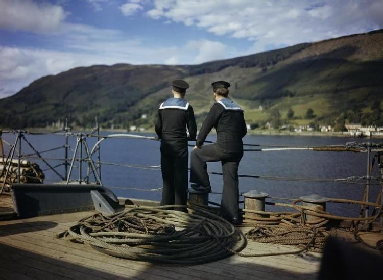 HMS Forth (A187) FileOn Board the Submarine Depot Ship HMS Forth Holy Loch