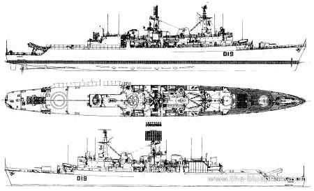 HMS Glamorgan (D19) TheBlueprintscom Blueprints gt Ships gt Destroyers UK gt HMS