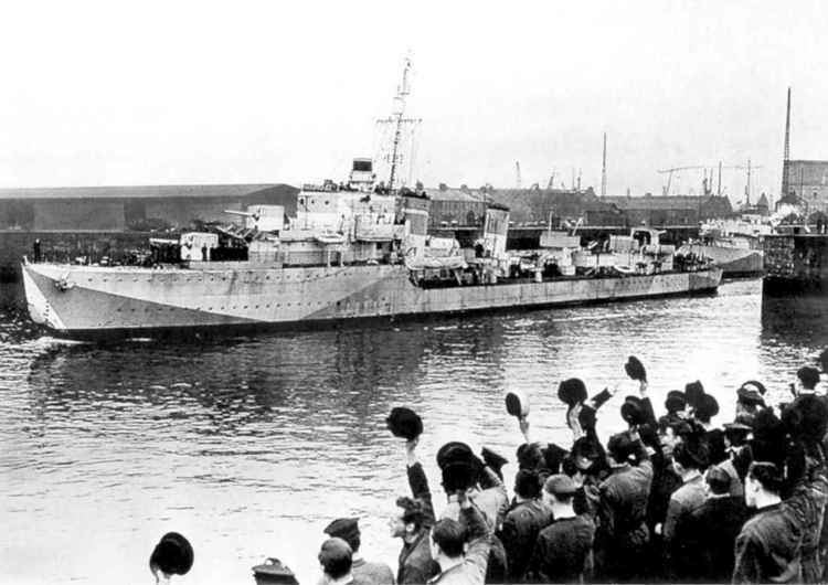 HMS Hesperus (H57) DD HMS Hesperus H57 Torpdov lod