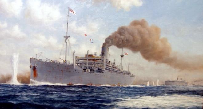 HMS Jervis Bay Convoy HX84 Battle HMS Jervis Bay