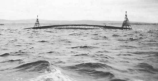 HMS Natal The Invergordon Archive The upturned hull of HMS Natal c1916