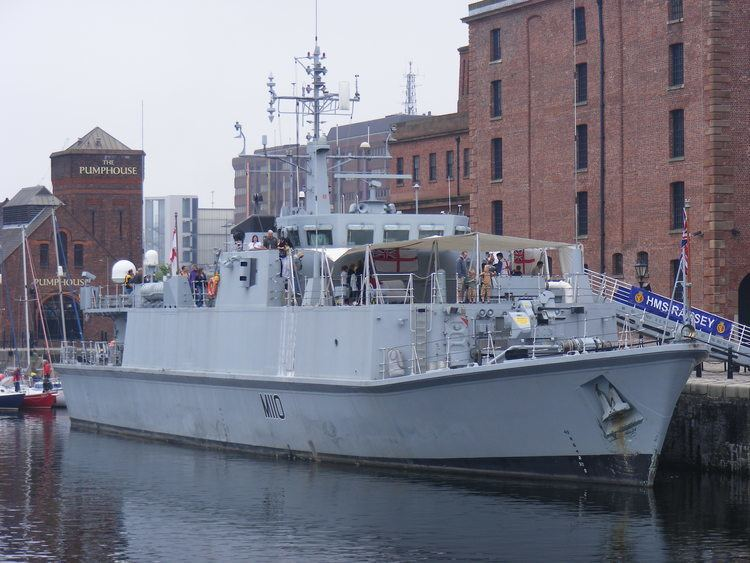 HMS Ramsey (M110) FileHMS Ramsey M110 in Liverpooljpg Wikimedia Commons